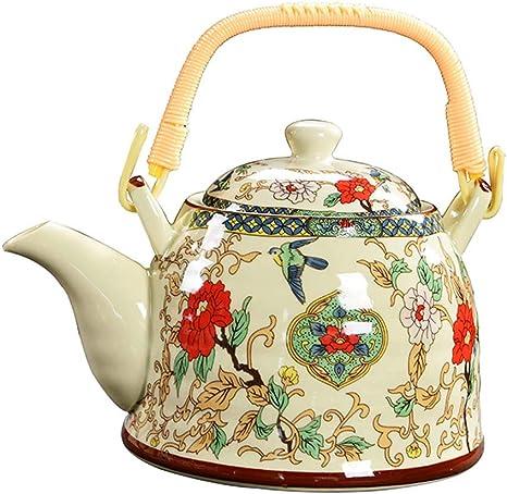 Amazon Com Fancy Pumpkin Retro Ceramic Teapot Tea Gift Sets Large Capacity Tea Pots For Home Restaurant Hotel A 01 Home Kitchen