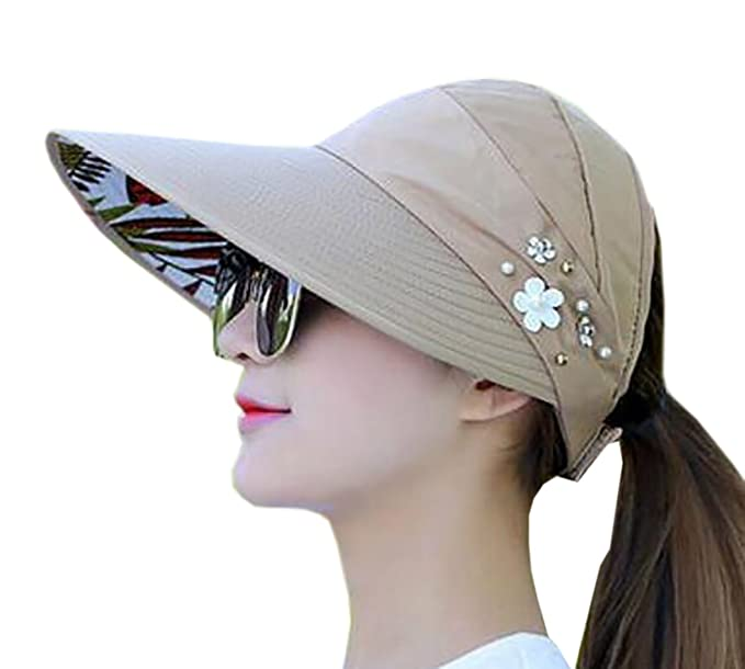 27467d84ccf Image Unavailable. Image not available for. Color  Nanquan-women clothes NQ  Womens Wide Brim Visor Anti-UV Sun Protection 2 in