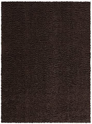 Area Rugs, Maples Rugs Made in USA Catriona 7 x 10 Non Slip Padded Large Rug for Living Room, Bedroom, and Dining Room – Brown Suede