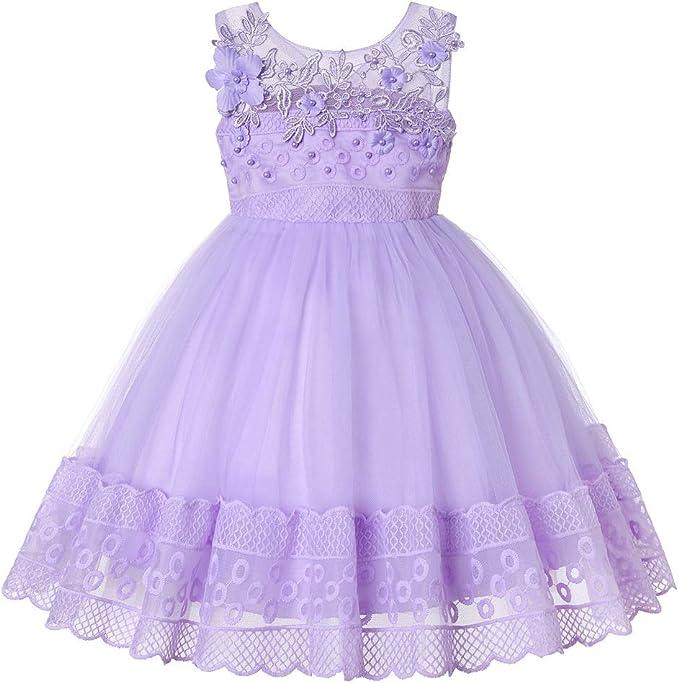 ZhuiKunA Vestido de Princesa para Niña, Falda de Chicas con ...