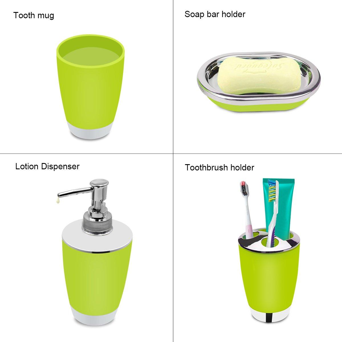aipasi tech Stylish Bathroom Accessories Set for 6 psc ,Plastic Bath ...