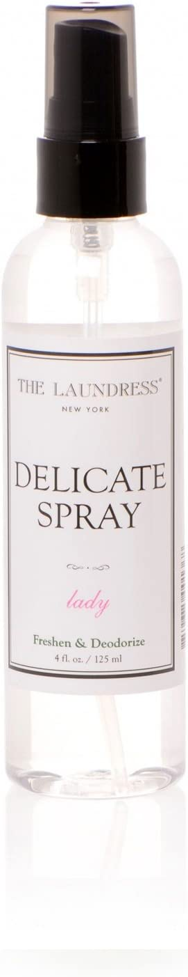 The Laundress New York Delicate Spray, Lady Scented, Fabric Refresher Spray, Lingerie Spray, Fabric Spray for Delicate Clothes, Bra Spray, Allergen-Free, Non-Toxic Formula, Antibacterial, 4 fl oz