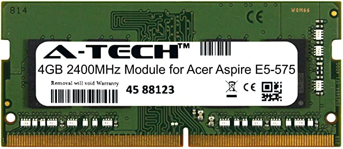 A-Tech 4GB Module for Acer Aspire E5-575 Laptop & Notebook Compatible DDR4 2400Mhz Memory Ram (ATMS268871A25824X1)