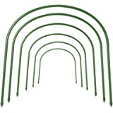 FOTMISHU 6Pcs Greenhouse Hoops Rust-Free Grow Tunnel Tunnel, 4ft Long Steel with Plastic Coated Plant Supports for Garden Fab