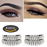 Magnetic Eyelashes, New Model with Double Magnet by Upperlife, No Glue Needed Premium Quality 3D False Eyelashes Set for Natural Look, Perfect Gift for your Loved Ones, Perfect for Deep Eyes & Round Eyes 002