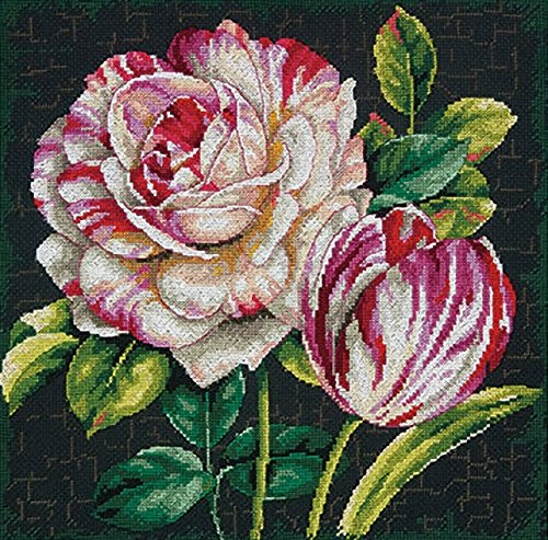 - Dimensions Crafts 70-35314 Tulip Drama Counted Cross Stitch Kit