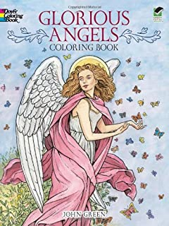 glorious angels coloring book dover coloring books - Dover Coloring Books For Adults