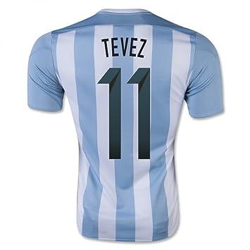 """Adidas Camiseta Argentina Home, Tevez 11, Large 42-44"""" ..."""