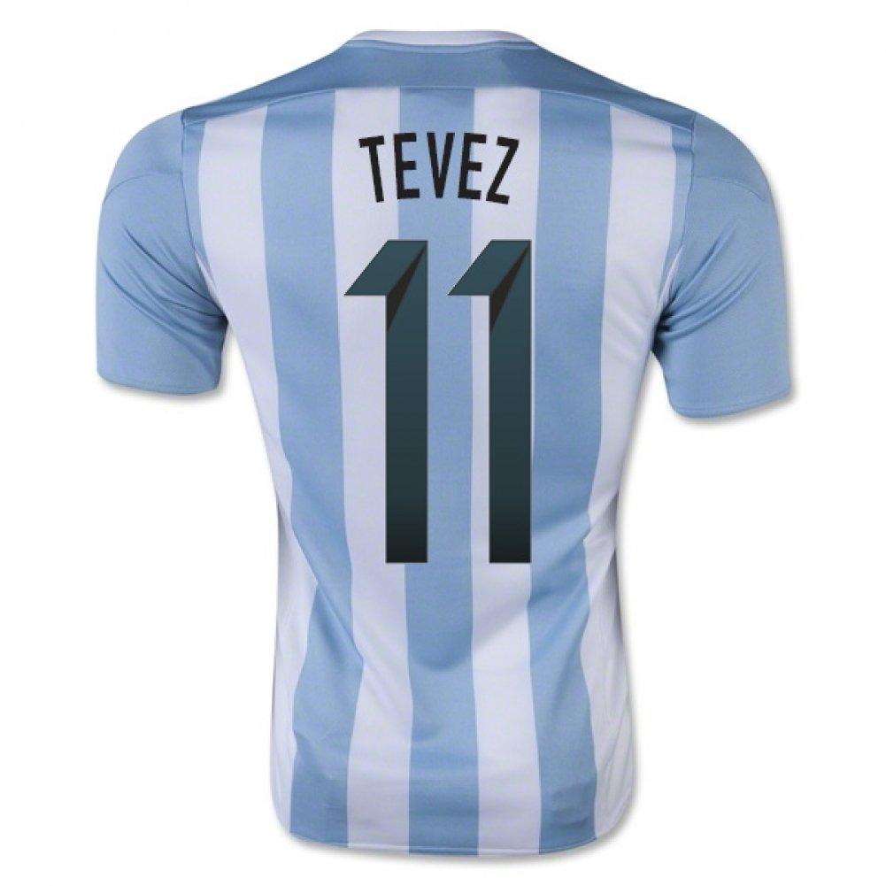 2015-16 Argentina Home Football Soccer T-Shirt Trikot Trikot Trikot (Carlos Tevez 11) - Kids 96f3e7
