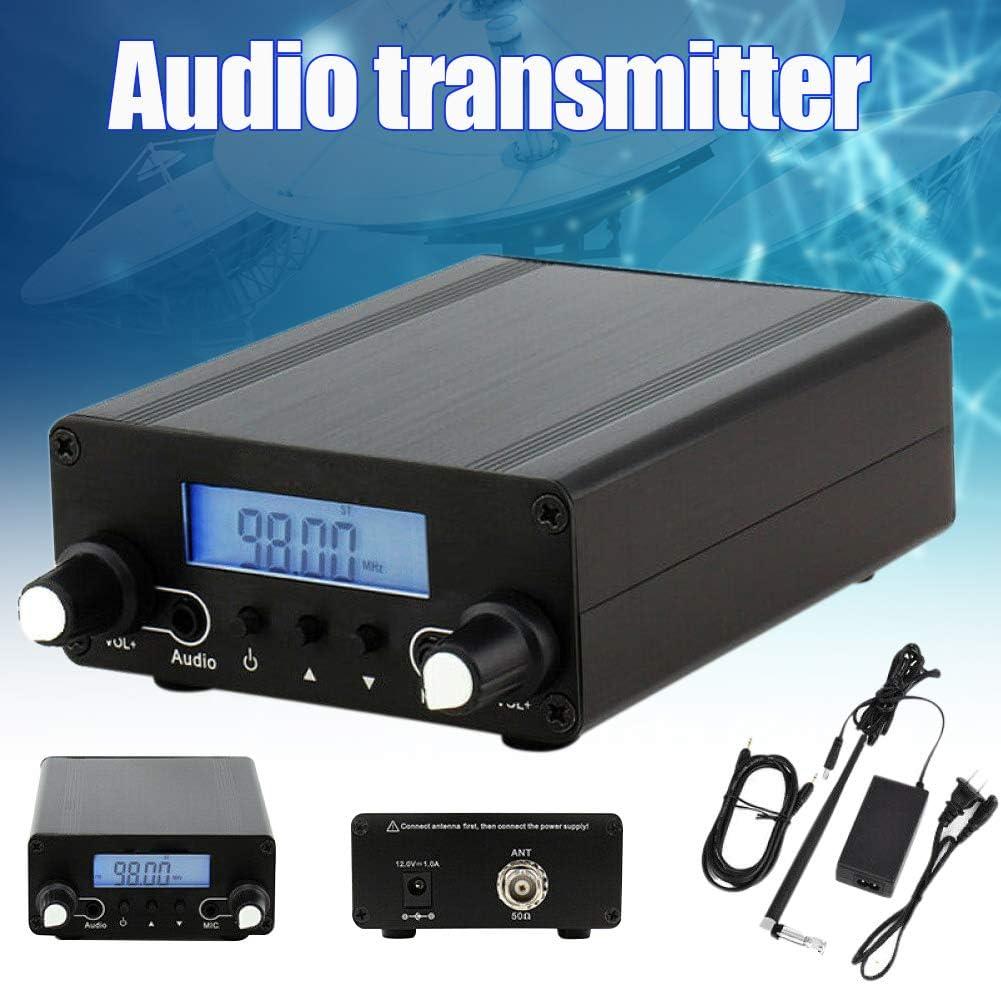 CZE-05B 0.1/0.5W Wireless PLL FM Transmitter LCD Display 76MHz~108MHz Antenna Home Broadcast