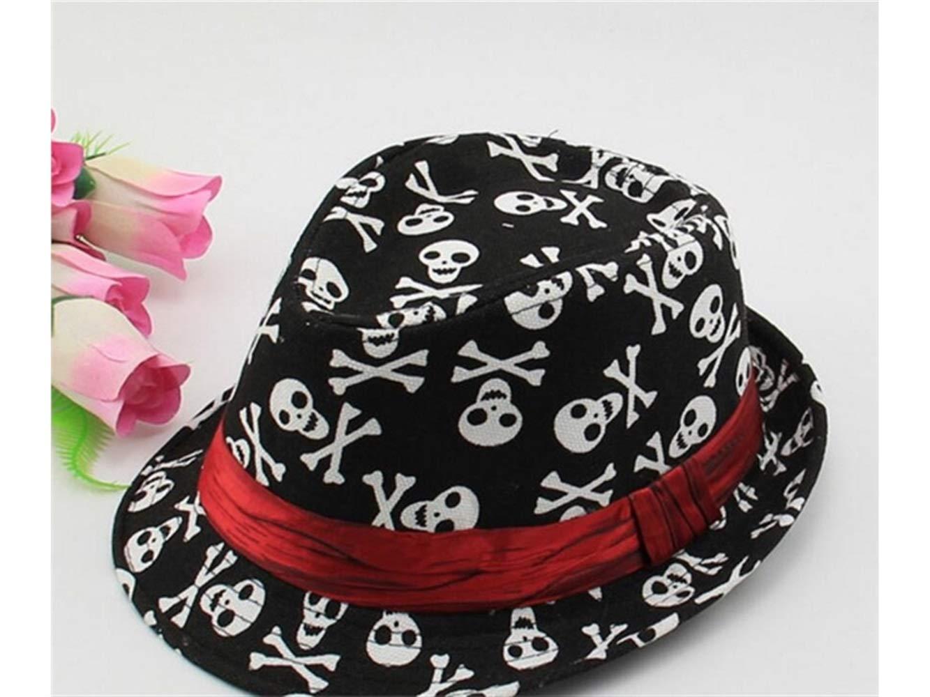 8/ans B/éb/é Cadeau doux enfants T/ête de mort chapeau melon enfants Chapeau de jazz Chapeau de protection solaire Pare-soleil pour 2