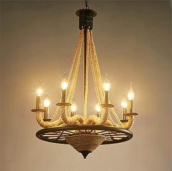 dhg luminaires dintrieur lustre accessoires vintage industrial pendentif plafonnier steampunk retro loft creative chanvre