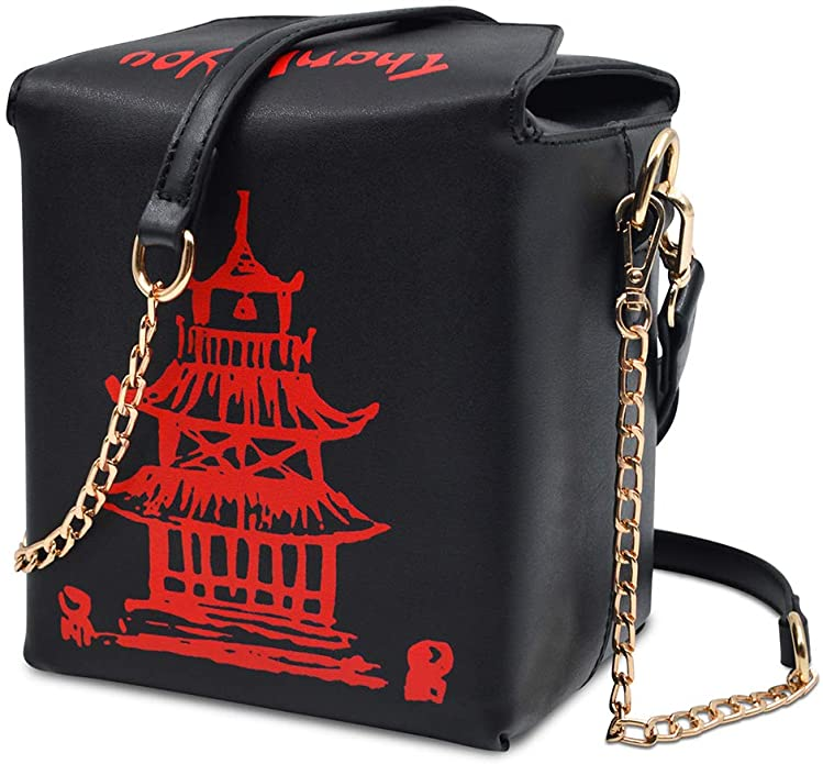 1950s Handbags, Purses, and Evening Bag Styles Fashion Crossbody Shoulder Bag i5 Chinese Takeout Box Purse with Comfortable Chain Strap $27.99 AT vintagedancer.com