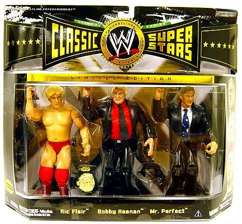 WWE Wrestling Classic Superstars Exclusive Champion Series Action Figure [Ric Flair, Bobby Heenan & Mr. Perfect] by Jakks Pacific