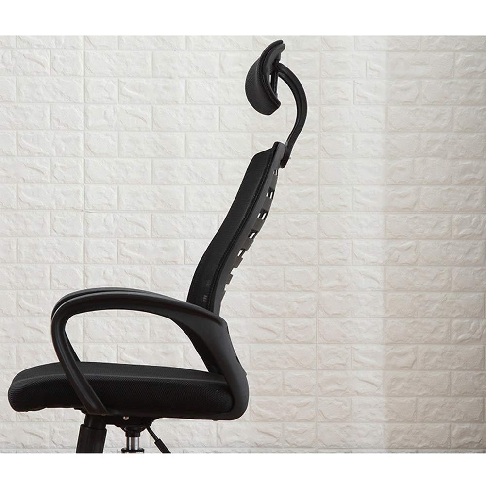 XZYZ stol dator kontor svängbart säte, lutning spänning hög rygg nät, nackstöd ländrygg stöd, ergonomisk justerbar höjd (färg: Blå) Röd