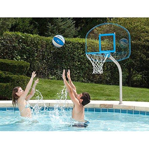 - Dunnrite Clear Hoop Jr. Pool Basketball Set w/ 1.90 Post