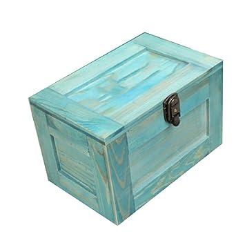 Wooden Jewelry Box Nan Caja de Almacenamiento Caja Decorativa Estilo Vintage Caja de Madera de Bloqueo Caja de joyería de Madera Caja de Almacenamiento de ...