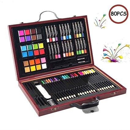 ART JKWL 80 Accesorios de Dibujo, Lápices de Colores, Set ...