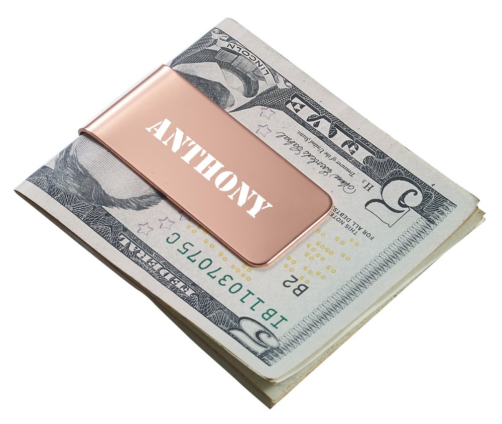 Personalizado Visol Holmes oro rosa pinza para billetes con ...