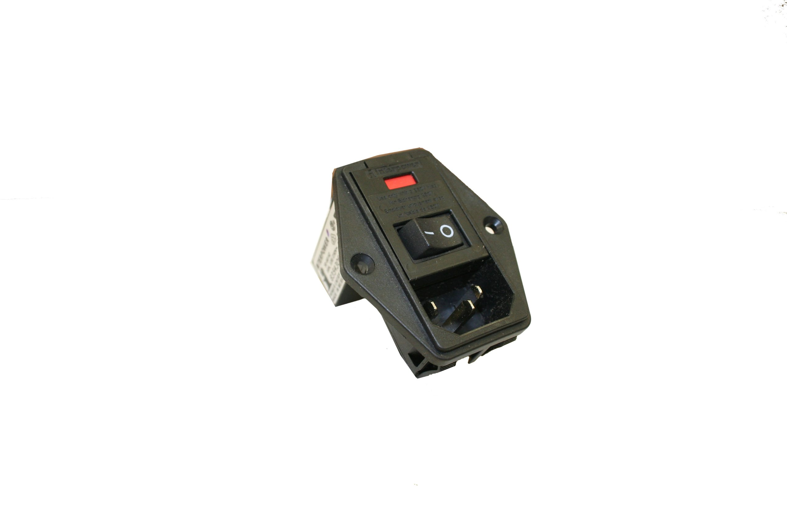 Interpower 83543060 Three Function Double Fused Power Entry Module, C14 Inlet, Switch, Double Fused, 10A Current Rating, 120/250VAC Voltage Rating