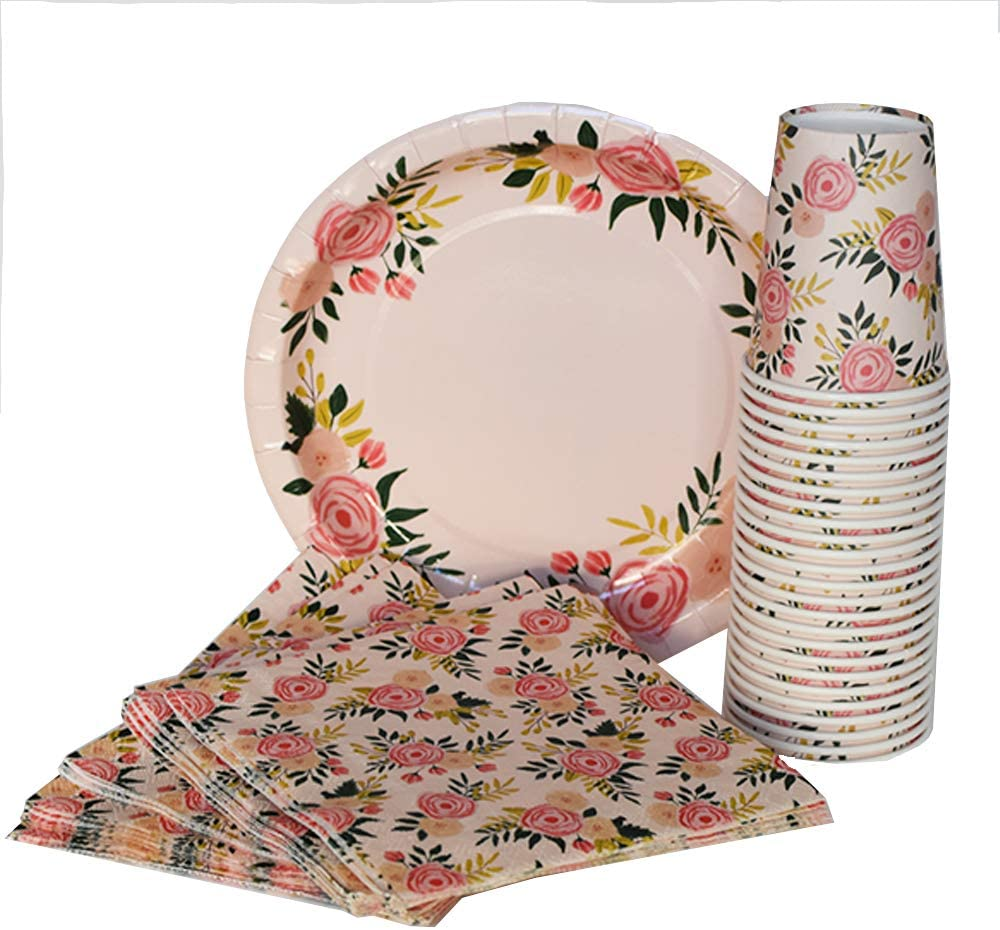Spode Peplow Lavender Yellow Pink Floral Dinner Plates Spring Summer Party Teas Showers Weddings