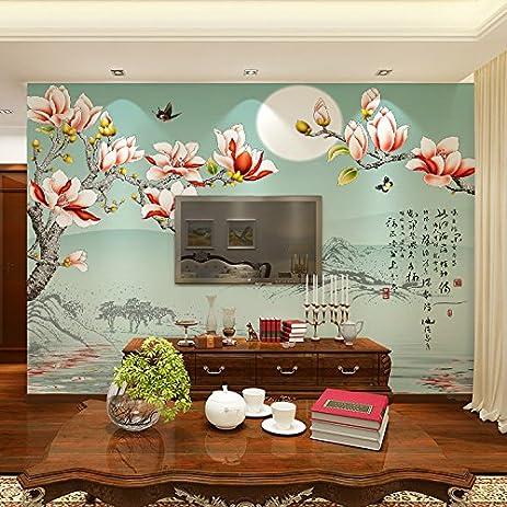 HUANG YA HUI mural Tv Wall Murals Large Flower And Bird Bedroom