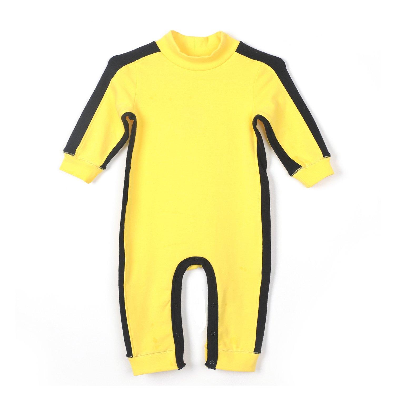 c641f6b6e Amazon.com  Fairy Baby Baby Boy Cotton Long Sleeve Jumpsuit Yellow ...