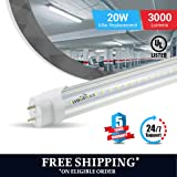 BALLAST COMPATIBLE T8 4ft led tube 20w 3000 lumens 6500K CLEAR COVER 1pc