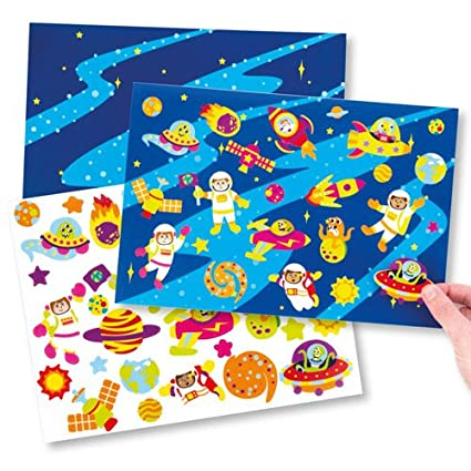 amazon com baker ross solar system sticker scenes for kids perfect