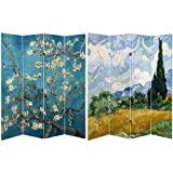 Product review for Oriental Furniture 6 ft. Tall Double Sided Works of Van Gogh Canvas Room Divider - Almond Blossoms/Wheat Field