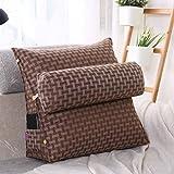 LUOTIANLANG Office sofa cushion pillow waist pillow for pregnant women Home Furnishing ornaments triangle comfortable cushion,Tartan,50x200x20cm