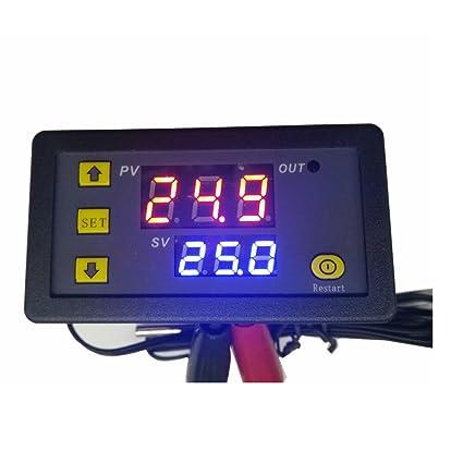 KUNSE W1018 5V 12V 24V 10A Termómetro Digital Temperatura Controlador Termostato Incubadora-20~110