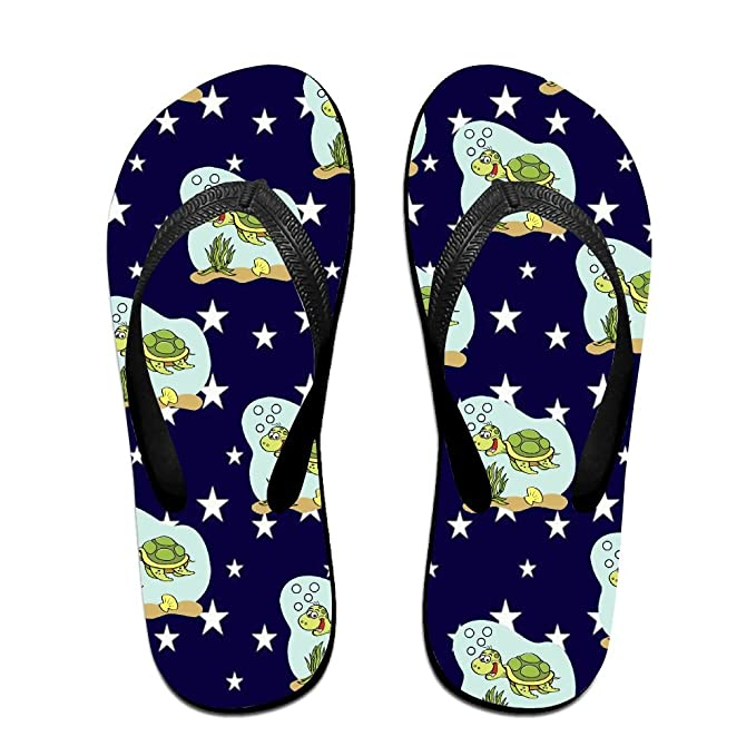 Unisex Non-slip Flip Flops To Be A Tortoise Cool Beach Slippers Sandal