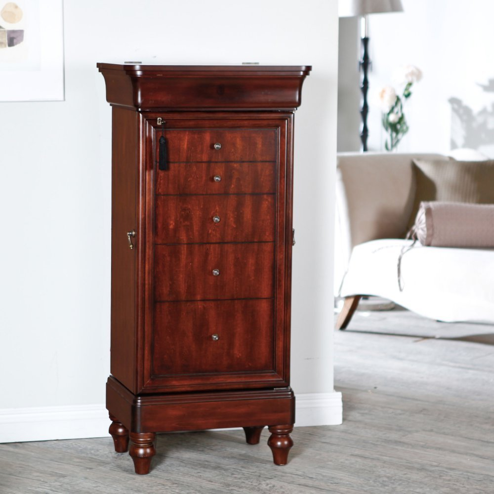 Belham Living Seville Antique Locking Jewelry Armoire