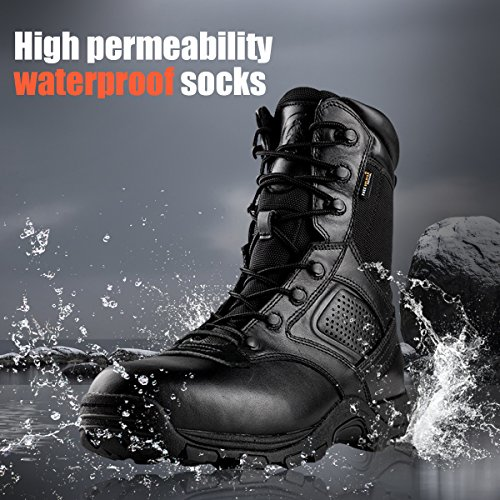 Steel Toe Tactical Boots - FREE SODLIER Waterproof Shoes Penetration Resistant Composite Toe Combat Boot(Black 12.5) by FREE SOLDIER (Image #5)