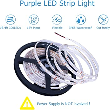 2X 15 LED Flexible Strip Orange Light 3528 SMD IP65 Waterproof 12V Car Home 30cm