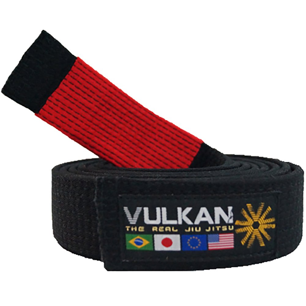 Vulkan Fight Company Brazilian Jiu Jitsu, Bjj Black Belt Special For Martial Arts Sports, Red Stripe, A1 by Vulkan