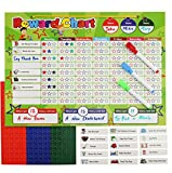 """Daskid Kids Behavior Chore Chart"" is a magnetic dry erase chart for children 3 years and up, that aim to encourage responsibility and independence at an early age. The reward chart acknowledges children's positive behavioral changes at home,..."