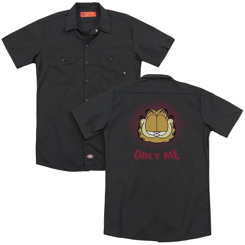 Garfield Obey Me T Shirt Licensed Comic Book Tee Black