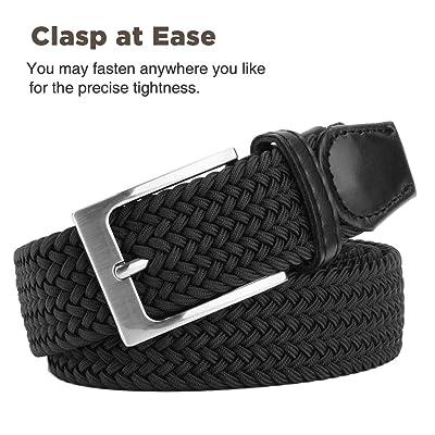 Elastic Braided Belt Fairwin Enduring Stretch Woven Belt for Men//Women//Junior/…
