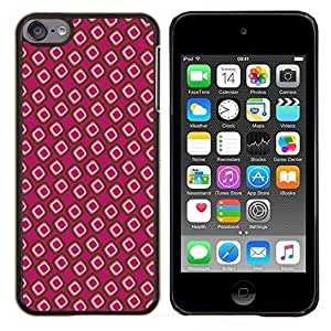 """Be-Star Único Patrón Plástico Duro Fundas Cover Cubre Hard Case Cover Para iPod Touch 6 ( Papel pintado Random Pink Dots"""" )"""