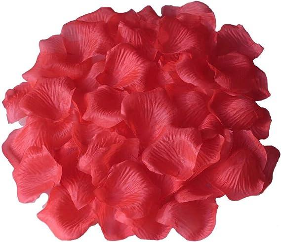 100//1000pcs Simulation Rose Confetti Petals Wedding Party Supplies Decorations
