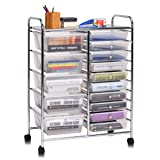 Giantex 15 Drawer Rolling Storage Cart Tools