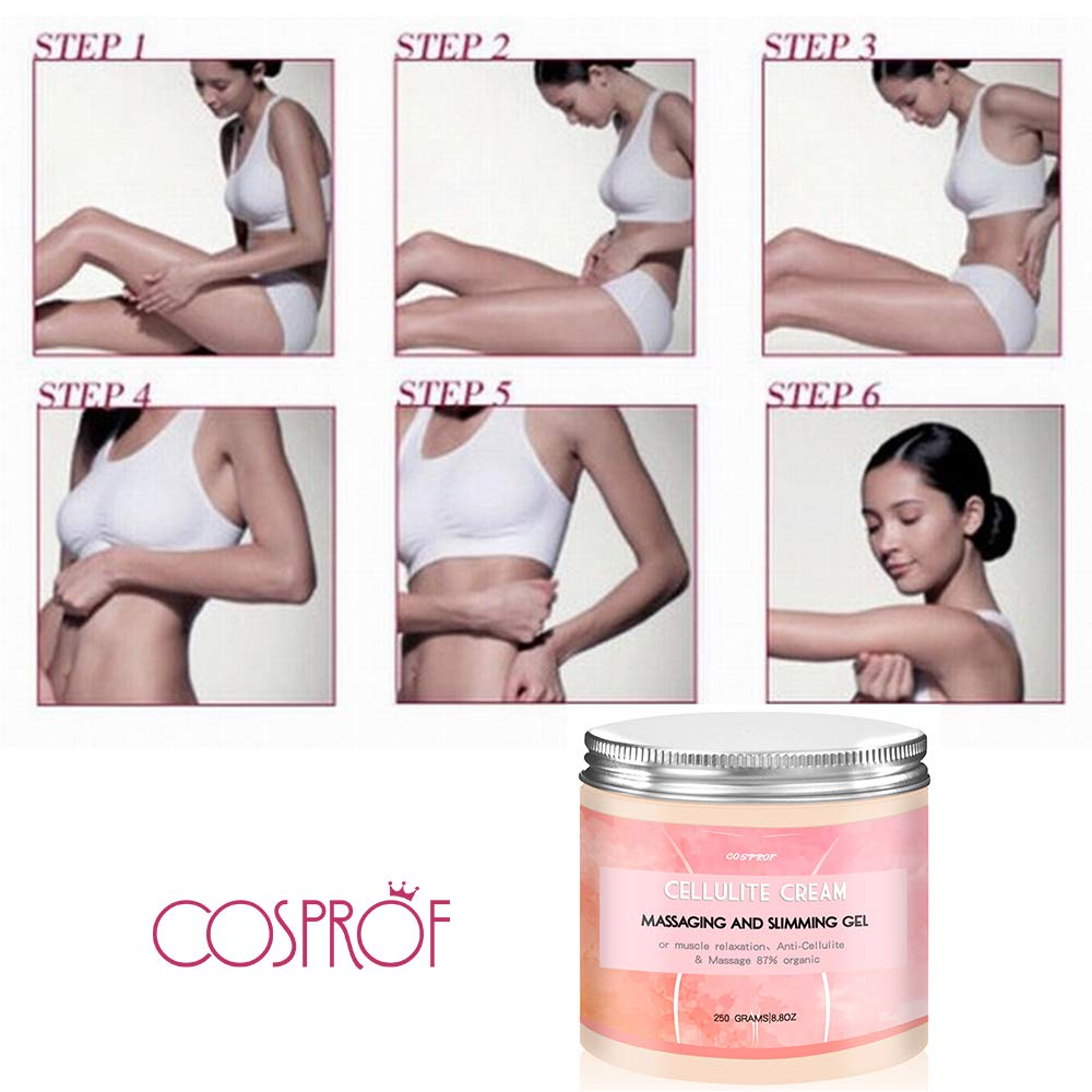 Cosprof Anti Cellulite Body Slimming Cream, Hot Cream Treatment & Weight Loss,Belly Fat Burner for Women and Men, 8.8oz. by Cosprof (Image #6)
