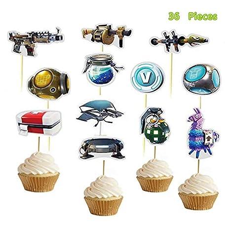 36 adornos hechos a mano para cupcakes, decoración para ...