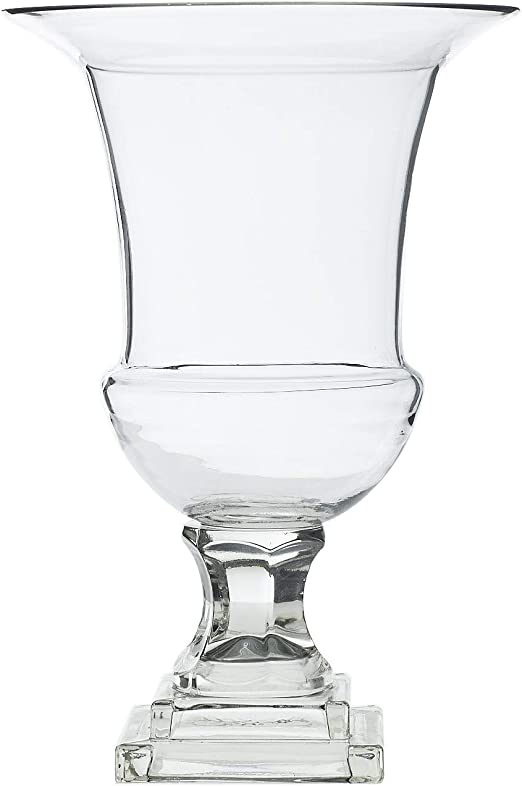 A/&B Home Omari Crystal Urn Vase 8 x 8 x 10