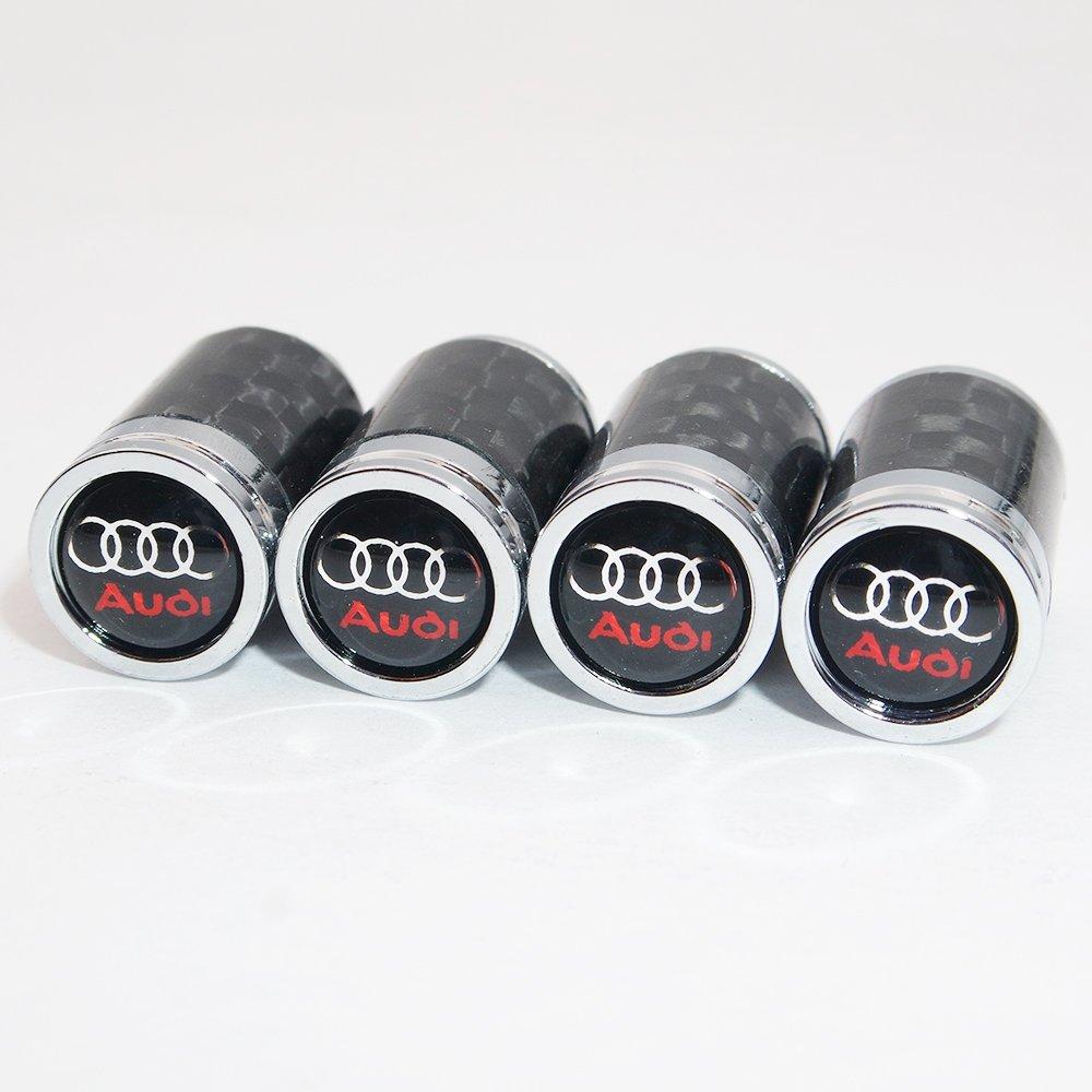 Us85/Logo Audi Embl/ème automatique de voiture de roue Pneu Air Valve Caps Stem Coque Accessoires D/écoration Cadeau danniversaire