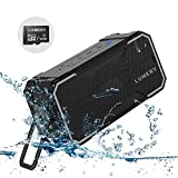 LUMERY Outdoor Bluetooth Speaker, IPX6 Portable Speaker Waterproof for Outdoor, Party, Cycling, Sports, Pool, Beach, Hiking, Camping (With 16GB TF Card)