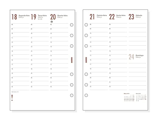 Amazon.com : Finocam 2781960 - Agenda Organiser Week View ...