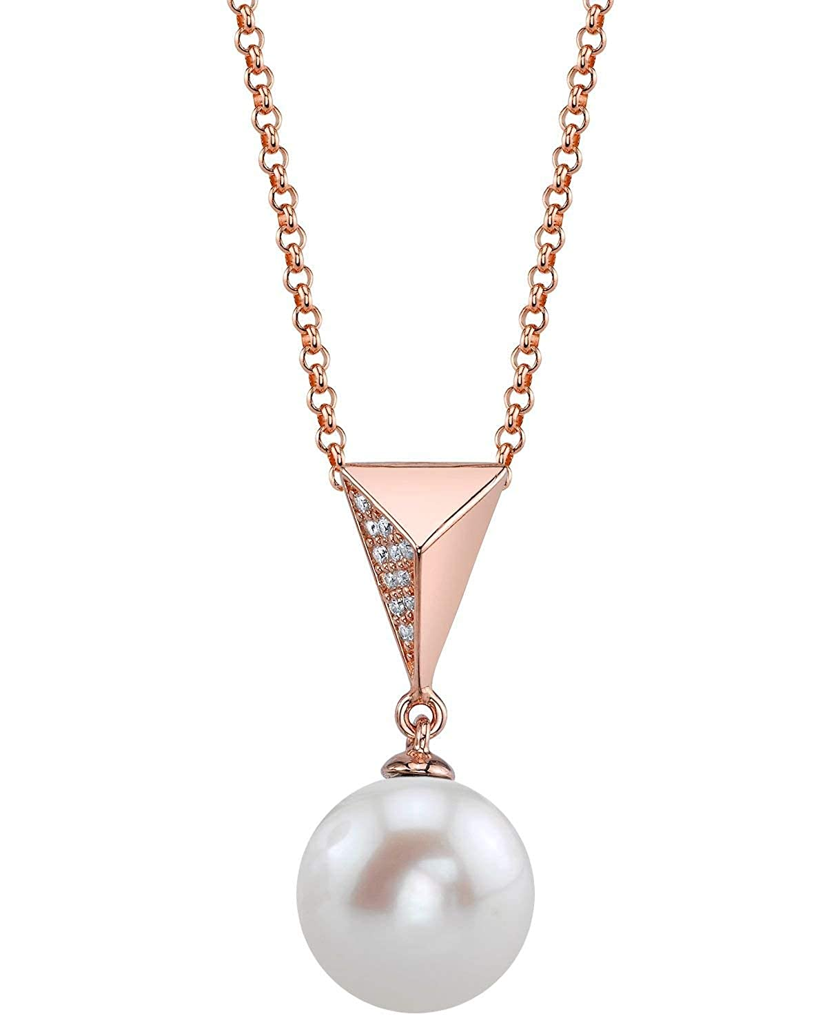 THE PEARL SOURCE 8-9mm Genuine Freshwater Cultured Pearl Becky Pendant Necklace for Women